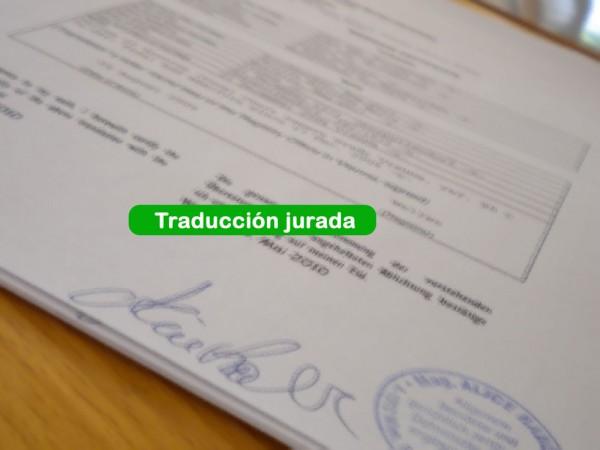 Traduccion de documentos para la homologación (ESP->ALE)